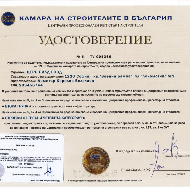 Удостоверение КСБ гр.2-1